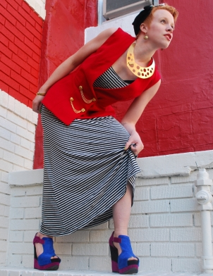 About a Dress #15. Each Friday we recycle a thrift store find. Check out the blog for details!